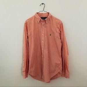 Polo Ralph Lauren Orange Stripe Casual Shirt